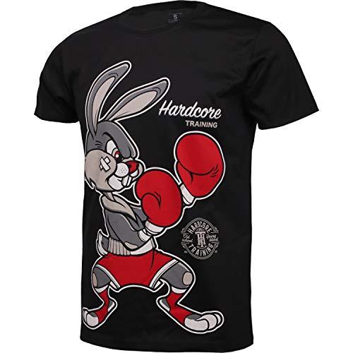 Hardcore Training Surprise Surprise Schwarz T-Shirt Hemd Kurzarm Herren Sportkleidung Fitness Gym Running Aktive Kleidung Laufen Übung