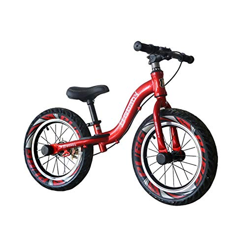 Running Balance Bike para niños de 2-6 años con neumáticos de Aire y Frenos 12-14 Inch Sport Edition Rojo,Red-with-Brake,14