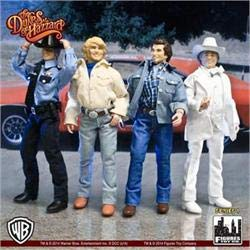 FT&C Dukes of Hazzard 8 INCH Figures Set of 4 Loose New in POLYBAG