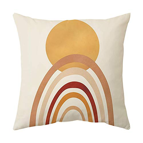 XINWO 1PCS simple cushion cover cartoon pillow cover abstract printing sofa cushion cover suitable for sofa bedside car 45x45cm