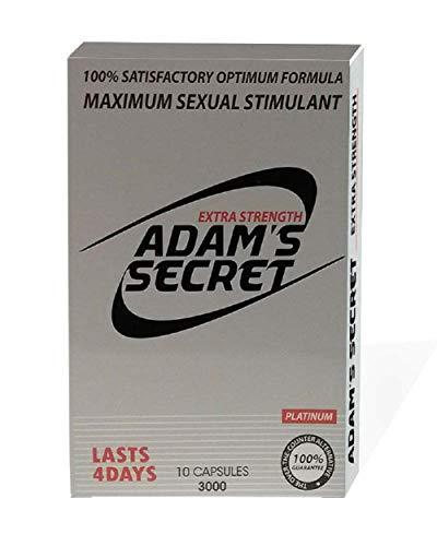 #1 Adams Secrets Enlargement 10 Pills Enlarge Bigger Girth Growth Male Enhancement Testosterone Booster Pills for Men for Natural Male Enhancement Increase Muscle Size Energy Stamina (10 Super Pills)