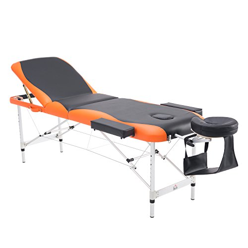 HOMCOM Deluxe Massage Table Bed Couch Beauty Bed 3 Section...