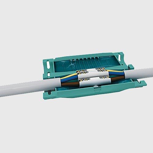 GEL Muffe Kabelverbinder Kabelgarnitur Verbindungsmuffe Außenbereich IP68 für 5-adrige Kabel bis 5 x 6