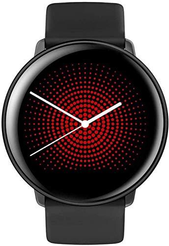 SmartWatch 1.22 Reloj Inteligente con Pantalla táctil IP68 Impermeable con GPS Monitor de sueño con frecuencia cardíaca Podómetro Contador de calorías por Pasos-Negro