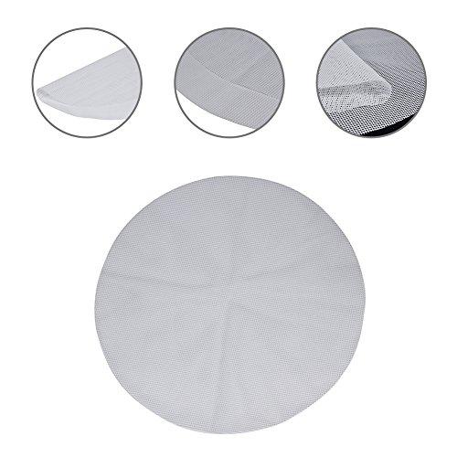 4Stück wiederverwendbare Antihaft-Silikon Dampfgarer-Matten, BPA-frei, rund , Klöße, Brot, Netzmatte, Silikon, weiß, Diameter:9.44inch/24cm