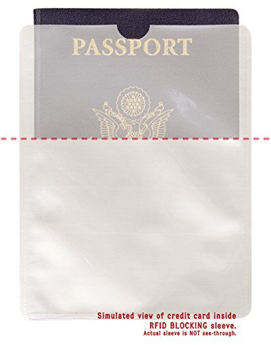 4 Pack Safety Sleeves Identity Theft Protection RFID Sleeves 4 Pack RFID Blocking Passport Protector Sleeves