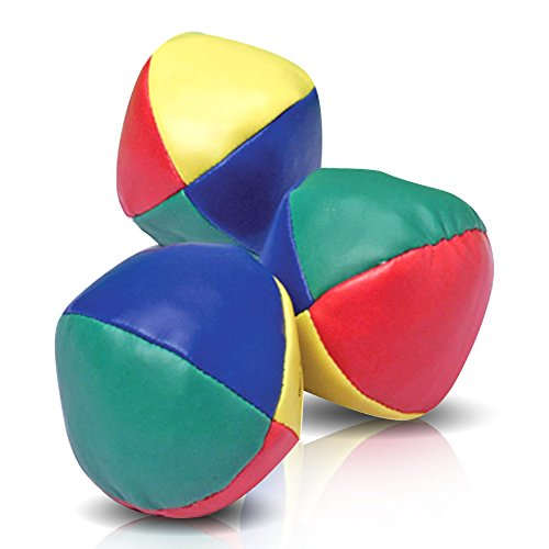 ArtCreativity Juggling Balls Set for Beginners Set of 3 - Durable Juggle Ball Kit - Soft Easy Juggle Balls for Kids and Adults - Multi Colored