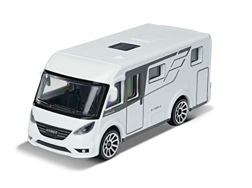 Majorette Explorer Hymer Mobil Exsis-i, Camper, Wohnmobil, Camping, Spielzeugauto, Freilauf, 7,5 cm, weiß, für Kinder ab 3 Jahren