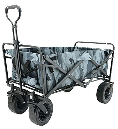 QDY -Carro De Vagón Plegable Plegable Vagón Utilitario con Ruedas De Playa Todo Terreno Buggies Rodantes Carro De Jardín Al Aire Libre para Acampar En La Playa Compras,4 Camouflage b