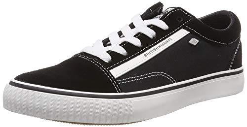 British Knights Herren Mack Sneaker, Schwarz (Black/White Suede 01), 45 EU