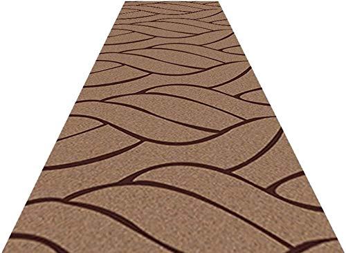 NNPE Brown Pasillo de la Vendimia Runner Área de alfombras Alfombras Estera Resistente Sucio Antideslizante for la Entrada Porche Cocina Escaleras 0223 (Size : 0.6×10m)