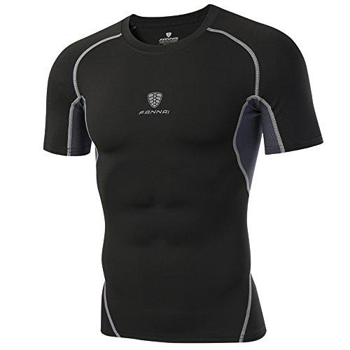 スポーツシャツ コンプレッションウェア ドライフィット オールシーズン 半袖 ラウンドネック[UVカット・吸...