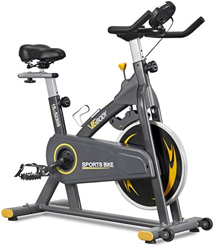 VIGBODY Exercise Bikes Stationary Bike With Adjustable Magnetic Resistance Belt Drive Bicycle product image