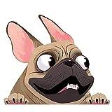 EARLFAMILY Fawn French Bulldog Sticker Pet Dog Vinyl Decal Animal Cartoon Car Stickers Waterproof Bumper Accessories