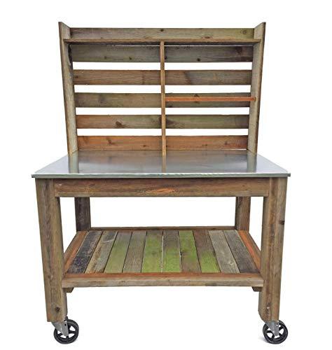 EST. LEE DISPLAY L D 1902 Potting Bench Buffet Table Island Cart Work Bench Outdoor Garden Station...