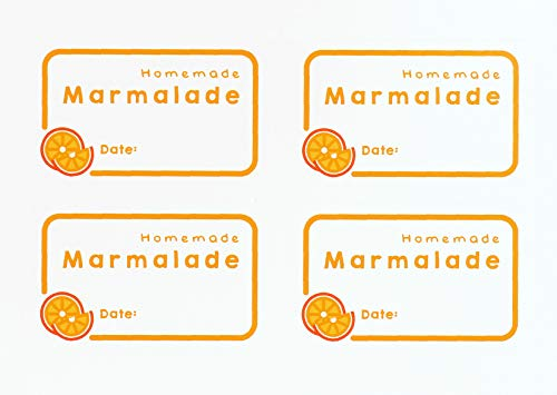 Avery AMJL01 63.5 x 38.1 mm Marmalade Label Stickers, Jar Labels - White (Pack of 32 Stickers)
