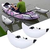WINUS Fishing Boat Stabilizer, Inflatable 2 White PVC Kayak Canoe Boat Fishing...