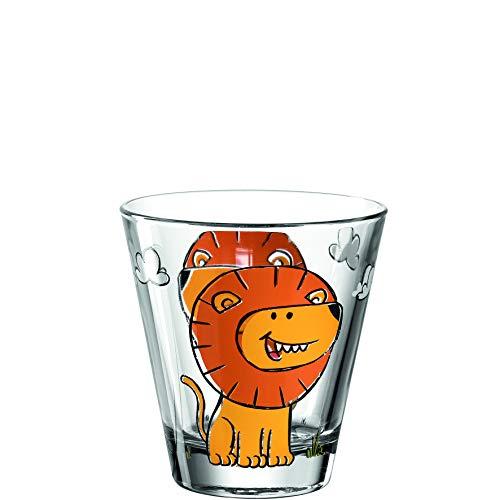 Leonardo Bambini 017899 Lot de 6 verres à jus pour enfant en verre avec motif animal, passe au lave-vaisselle, 215 ml