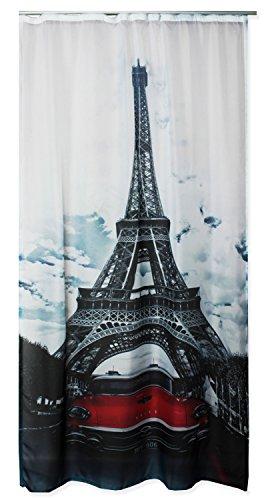 Haus und Deko Voile Dekoschal Bedruckt ca. 140x245 Vorhang halbtransparent Gardine Band #1646 Paris