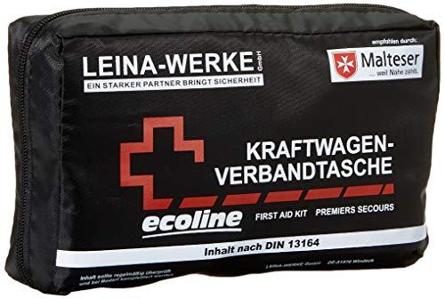 Leina-Werke 11047 KFZ-Verbandtasche Compact Ecoline mit Klett, 2-Farbig Sortiert
