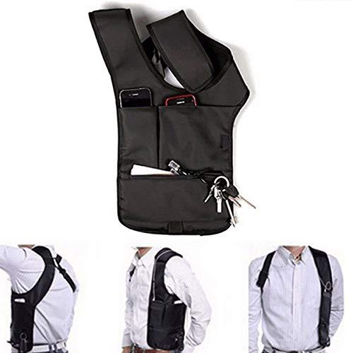 Gazelle Trading Multi-Purpose Hidden Underarm Shoulder Bag Concealed Pack Men Security Holster Strap Messenger Bags Wallet Phone Pouch Tactical Bag