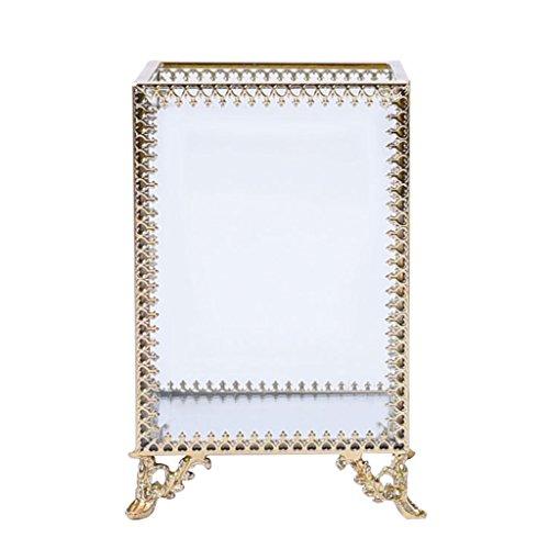 D DOLITY Make up Organizer Transparentes Kästchen für Lippenstifte Kosmetikpinsel zur Aufbewahrung Halter Box - Gold