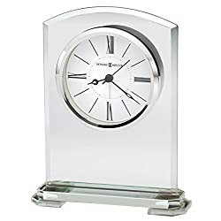 Howard Miller Corsica Table Clock 645-770 – Modern Glass with Quartz Alarm Movement