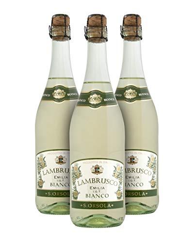 Sant'Orsola I.G.P. Lambrusco Emilia Vino Blanco - Emilia-Romaña, Italia - Pack de 3 Bot. 75 cl