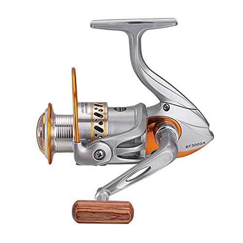 HSYSA Rueda de Carrete de Pesca de Hilado 13+ 1BB para Pescar BF2000-7000 Serie 4.7: 1/5.2:1 Carretes de Pesca de Agua Salada de Agua Dulce (Bearing Quantity : 12, Color : Silver)