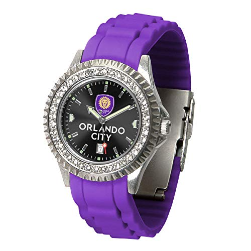 Game Time MLS Orlando City SC Womens SparkleWrist Watch, Team Color, One Size