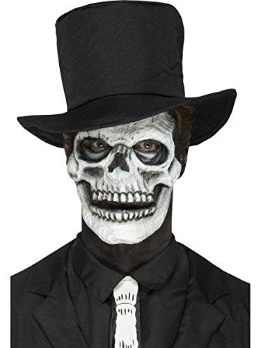 Smiffys Schaumlatex Schädel Totenkopf Maske beweglicher Kiefer Halloween