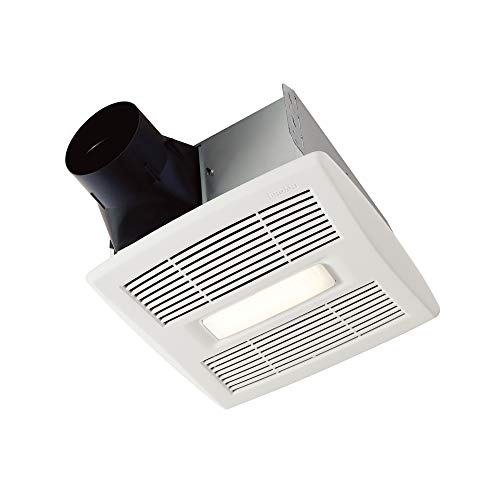 Broan-Nutone AE110L InVent Series Single-Speed Fan with LED Light, Ceiling Room-Side Installation Bathroom Exhaust Fan, ENERGY STAR Certified, 1.5 Sones,