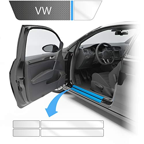Blackshell® Einstiegsleistenschutz Folie inkl. Premium Rakel passend für Golf Variant & Limousine   Typ AU   Bj. 2012-2019 (5-türer) Transparent - passgenaue Lackschutzfolie