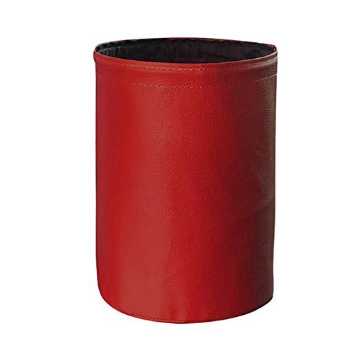 QMMB Bolsa De Basura De Coche Plegable Portátil, Bolsa De Basura De Coche Impermeable, para Limpiar Basura O Almacenar Artículos, Adecuados para Todos Los Autos,Rojo,1PCS