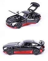 1:32 AMG GTR合金自動車モデルシミュレーションカー装飾コレクションギフトダイキャストモデル少年おもちゃのためのベンツのためのメルセデスのための1:32 車のモデルのおもちゃ (Color : ブラックレッド)
