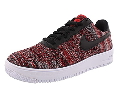 Nike Herren AIR Force 1 Flyknit 2.0 Basketballschuh, Univ Red Black Wolf Grey White, 43 EU