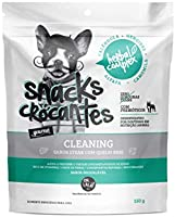 The French Co. Snack Crocante Herbal Complex Cleaning Raça Adulto, Sabor Steak com Queijo Brie, 150 gr