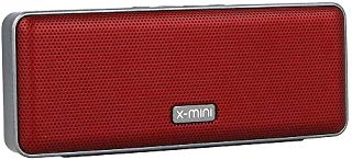 X-mini Xoundbar, Portable BluetoothSpeaker, IPX4 Splash-Proof Certified Stereo Travel Outdoor, Compatible with iOS/Android/Smartphone/Tablets/Laptop (Red)