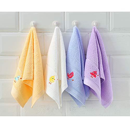 4 Kleine Handtücher Für Kinder Wunderschön Bestickte Handtücher Mit Fingerspitzen In Top-Qualität Aus 100% Ringgesponnener Baumwolle 550 GSM Dick Und Weich,Multi-coloredG