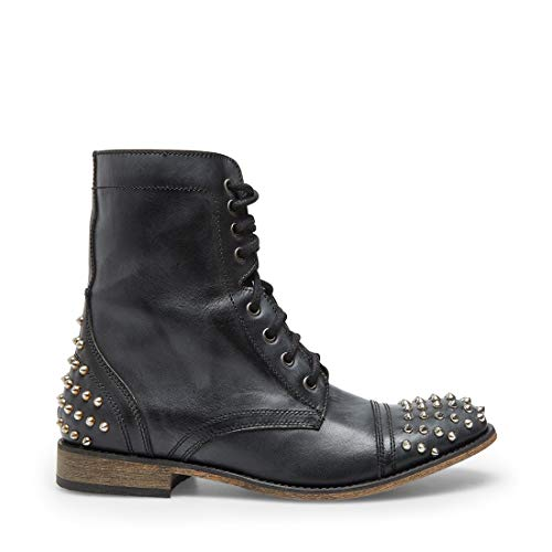 Steve Madden Trooper-S Boot Black Leather 9