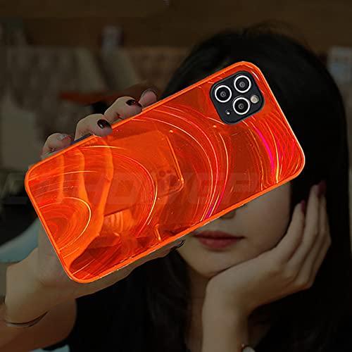 Custodia 3D Rainbow Glitter per iPhone 12 11 Pro Max 12Mini X XR XS Max 7 8 6 6s Plus SE 2020 Cover posteriore con cornice morbida in silicone, rosso, per iPhone 11 Pro