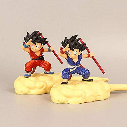 2 unids / Set Anime Dragon Ball Figura Figura Juguetes Nube PVC Modelo Acción Anime Figura Q Super Saiyan Niños S Gifts Coche Juguete Acción Figura Escultura