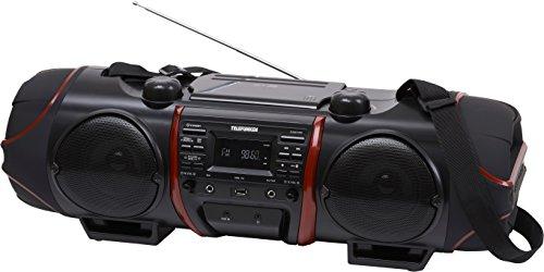 Telefunken RC1007BM Bluetooth-Ghettoblaster (PLL-Tuner, UKW-Radio, Aux-In, Batterie/Netzbetrieb)