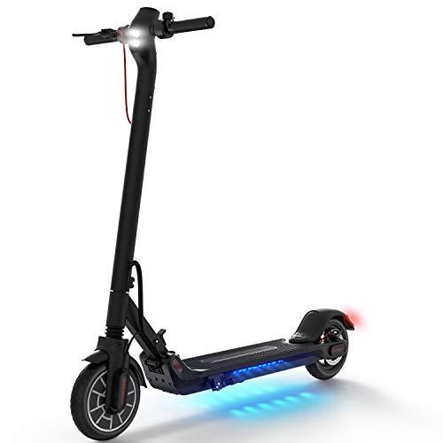 Elektro Scooter, 350W Motor Geschwindigkeit 25km/h, 25km Reichweite, 8,5 Zoll Elektroroller mit APP-Funktion, Faltbarer E Scooter für Jugendliche Und Erwachsene (Schwarz - Luftreifen)