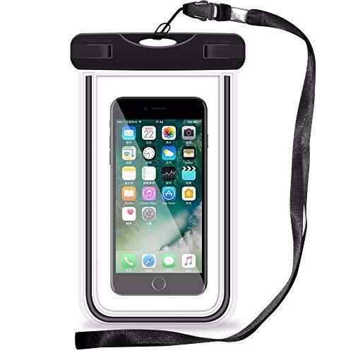 SDTEK Universelle wasserdichte Hülle (kompatibel mit Handys bis zu 6 Zoll) für iPhone, Samsung, Huawei, Moto