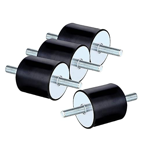 Silentblock M8, 4 Stücke Schwingungsdämpfer M8 Gummipuffer m8 für Luftkompressoren Dieselmotoren Benzinmotoren Wasserpumpen (M8 x 23, 30 x 30)
