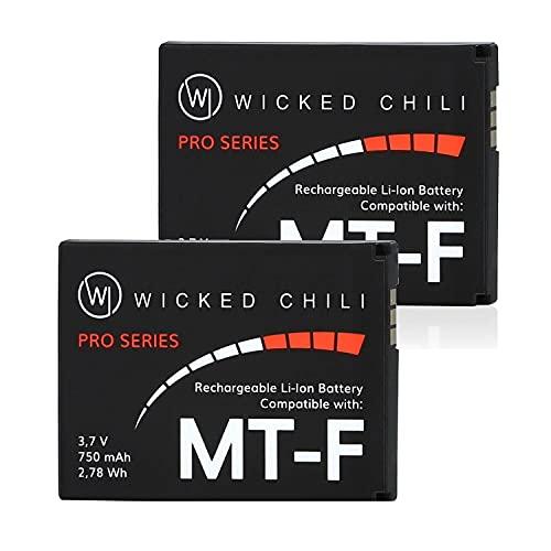Wicked Chili 2 Stück Akku kompatibel mit AVM Fritz!Fon C5 / C4 / M2 / MT-F/Motorola MOTOFONE F3 / EM325 / M325 / EM25 - Ersatz-Akku für: AVM 312BAT016, 312BAT006, 312BAT006CS-FVM446CL, 750mAh Li-Ion