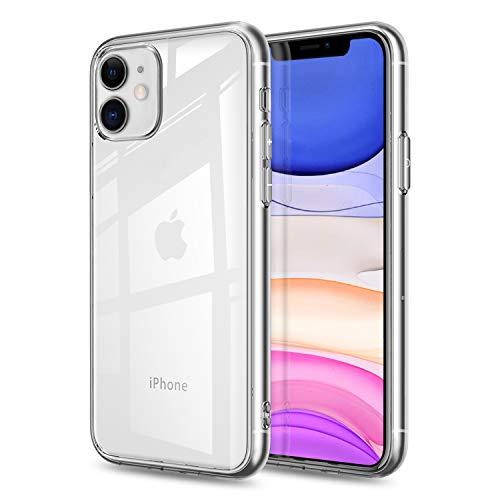 FayTun Funda para iPhone 11, Ultra Fina Silicona Suave TPU Gel Carcasa Anti-Choque Ultra-Delgado Anti-arañazos Protectora Case Cover para iPhone 11 de 6.1' -Transparente