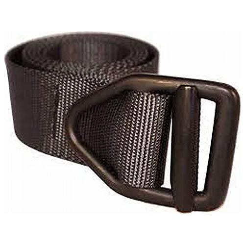 Bison Designs 38mm Wide Light Duty Belt with Black Buckle (Black, 42-Inch Maximum Waist/Large)