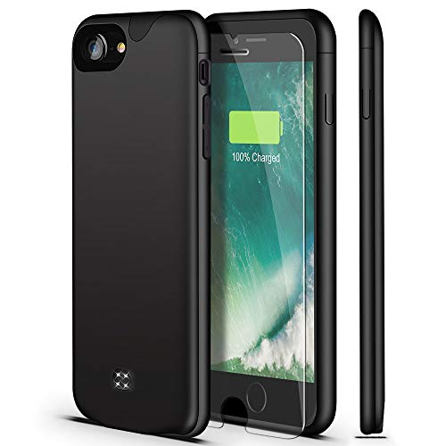 U-good Battery Case for iPhone 7/8/SE 2020(2nd Generation),Ultra Slim/Lightweight 3200mAh Charging Case Rechargeable Extended Battery Pack Charger Case for iPhone 7/8/SE 2020(4.7 inch) (Black)
